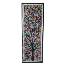 Handmade Forest Madhubani Wall Hanging by Artist from Bihar