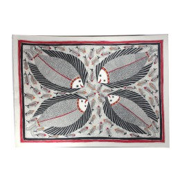 Classy Shoal of Fish Madhubani Wall Hanging by Artist from Bihar