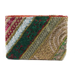 Handmade Ethnic Zari Work Fashion Pouch by Artisans of Gujarat