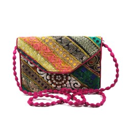 Multicolor Ethnic Pouch And Sling Bag by Artisans of Gujarat