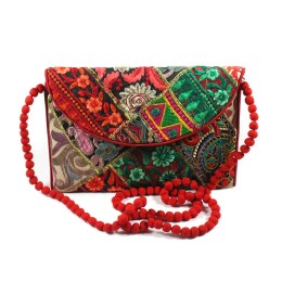 Multicolor Gujarati Patch Work Sling Bag by Artisans of Gujarat