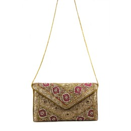 Classy Zari Work Marriage Pouch Cum Sling by Artisans of Gujarat