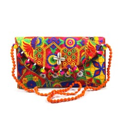 Classy Ethnic Multicolor Sling Bag by Artisans of Gujarat