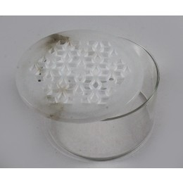 Exclusive White Stone Jaali Work Glass Box Cover by Artisans from Agra