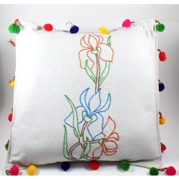 Designer Multicolour Hand Embroidered Cushion Cover by Women SHGs