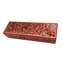 Handmade Jewelry Organizer Box, Trinket box, Jewelry Box, Women Storage Organizer, Best for Gifting(Red)