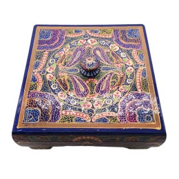 Handicraft Jewelry Organizer Box, Dry Fruit Box, Trinket box, Jewelry Box, Women Storage Organizer(Purple)
