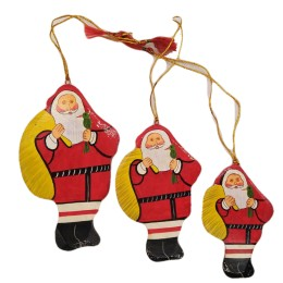 Handicraft Christmas Ornaments New Year Birthday Decorations Santa Set of 3(Yellow)