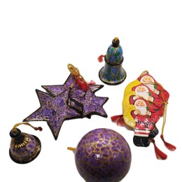 Handicraft Christmas Ornaments New Year Birthday Decorations Santa Set of 3(Multicolor)
