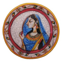 "India Meets India Handicraft Marble Serving Plate, Dessert plate, 6"" Inch, Best Gifting Made By Awarded Indian Artisan"