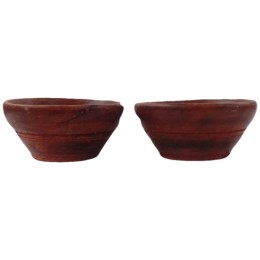 India Meets India Handicraft Wooden Dessert serving bowls Set of 2 Side dishes Ice Cream, 200 ml. Best Gifting Made By Awarded Indian Artisan