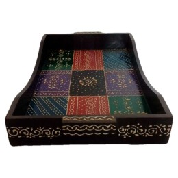 India Meets India Handicraft Wooden Serving Tray Serving Platter, Best Gifting, Made By Awarded Indian Artisan