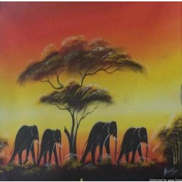 Classy Elephant Heard Wall Hanging by Differently Abled Artist