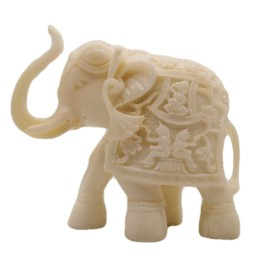 India Meets India Handicraft Natural Onyx Elephant Statue, Elephant Figurine, Elephant Showpiece, Best Gifting Made By Awarded Indian Artisan