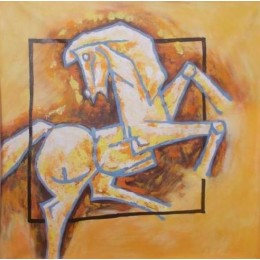 Classy Chetak Horse Wall Hanging by Differently Abled Artist