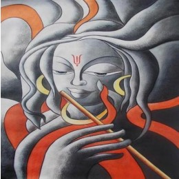 Classy Shiva on Flute Wall Hanging by Differently Abled Artist