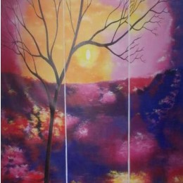 Classy Twilight Elegance Wall Hanging by Differently Abled Artist