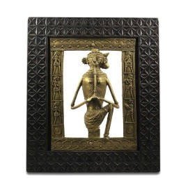 Beautiful Women Brass Wall Hanging by Artisans of Chattisgarh
