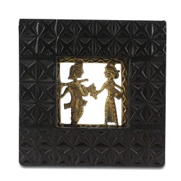 Unique Radha Krishna Brass Wall Hanging by Artisans from Chattisgarh