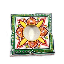 India Meets India Handicraft Onyx Marble Ashtray Indoor Ash Holder Cigarette Cigar Tabletop Ash tray, Best Gifting, Made By Awarded Indian Artisan