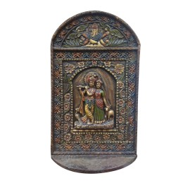 """India Meets India Handicraft Lord Radha Krishna Fibre Wall Hanging, Wall Décor, 12""""x9"""" Inch, Best Gifting Made By Awarded Indian Artisan"""