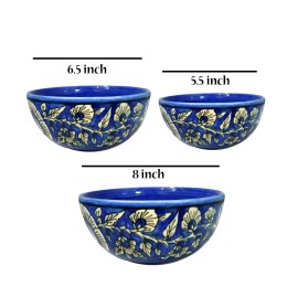 India Meets India Handicraft Marble Serving Bowl Mixing Bowls Fruit Bowl Salad Bowl Snack Bowl,300ml, Best Gifting, Made By Awarded Indian ArtisanIndian Artisan