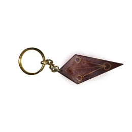 Exclusive Wooden Key Chain With Brass And Copper Inlay by Rural Artisans