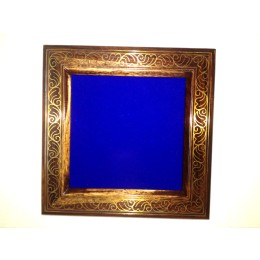 Designer Wooden Table Photo Frame With Fine Metal Inlay by Rural Artisans