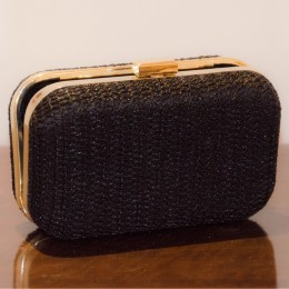 Handmade Attractive Black Crochet Clutch by Disadvantaged Youth