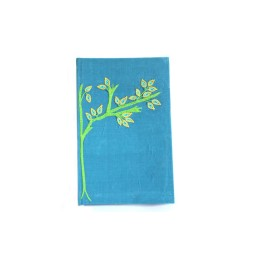 Blue & Green Aari Work Diary with Ruled Pages