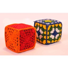 Handmade Multicolour Cube Paper Weights (Set of 2) by Women Self Help Groups