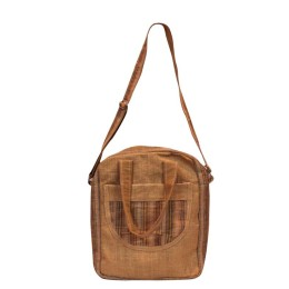 Beige All Purpose Bag with Multiple Pockets by Prison Inmates