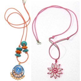 Paper Quilled Multicoloured Necklace Combo By Acid Attack Survivors