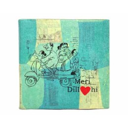 Recycled Eco-Friendly Handmade Blue Meri Dilli Diary By Disadvantaged Women in Faridabad