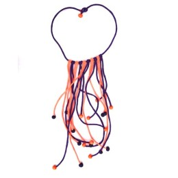 Handcrafted Blue-Pink Cloth Octopus Statement Necklace by Disadvantaged Women