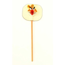 Recycled Beige-Yellow Angry Bird Paper Quilled Bookmark Stick (Set of 2) by Self Help Groups