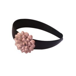 Handmade Golden Floral Motif Broad Plastic Hair Band by Disadvantaged Women