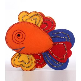 Handcrafted Colourful Thread Work Beads Fish Motif by Marginalized Women