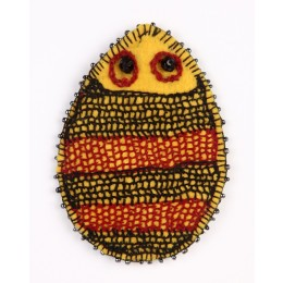 Handcrafted Yellow-Black Thread Work Beads Porcupine Motif by Marginalized Women