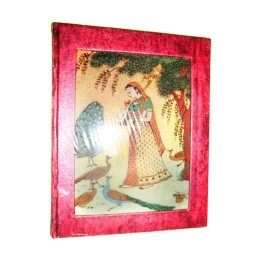 Red Gemstone Hand Painted Diary By Rural Migrants