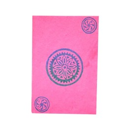Handmade Ethnic Block Printed Pink Diary by People with Disability