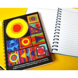 Spiral notebooks by young adults from low income communities