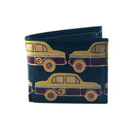 C Green Taxi Leather Wallet by Women self help Group