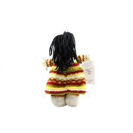 Kilmora Yellow Red Hand Knit Soft Toy Doll By Hill Farmers