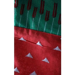 Christmas Stocking with Original Phulkari Embroidery