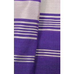 Hand Woven Purple Printed Patola Silk Stole by Rural Artisans of Gujarat