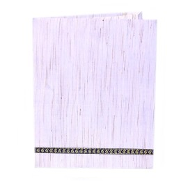Off White Silk Office Folder With Pockets Inside by Prison Inmates