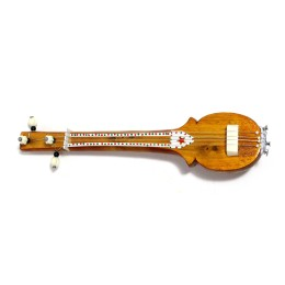Handmade miniature tanpura showpiece for gifting by awarded artisans