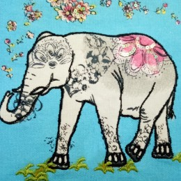 Classy Handmade Cloth Diary with Elephant design by people of urban slums