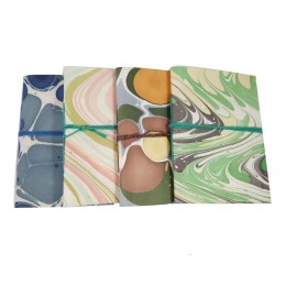 Classy Handmade paper diary with Marble Design Set Of 4 by people of urban slums